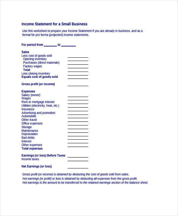 Income Statement Format income statement it is a income statement - proper income statement format