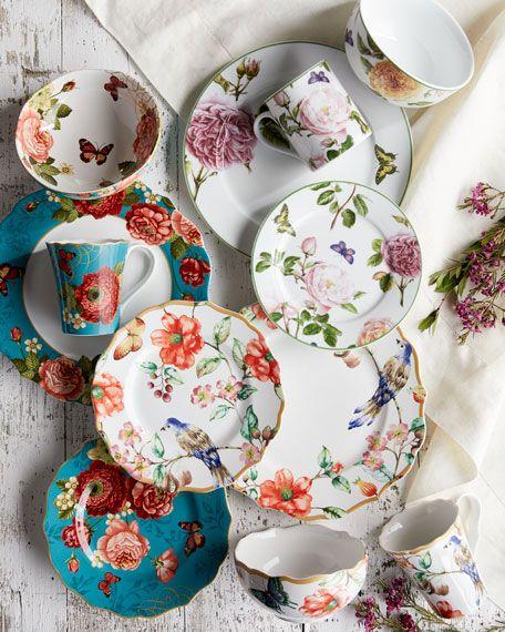 Neiman Marcus Danielles Flowers 16-Piece Dinnerware Service