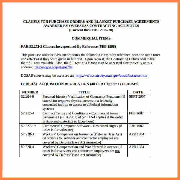 Purchase Order Contract Template Sample Purchase Order Form 10 - purchase order contract template