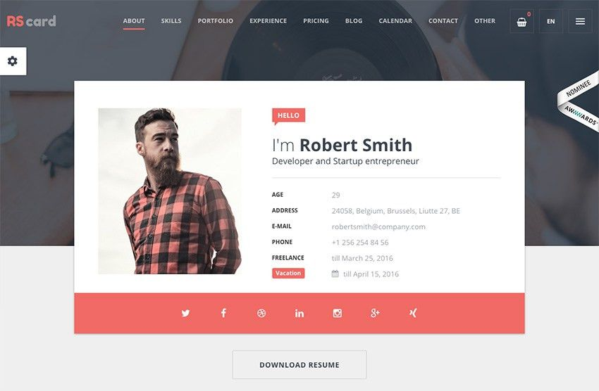 Resume Web Templates. Best Resume Website Templates