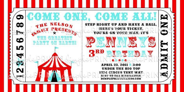 Printable Ticket Invitations Baseball Ticket Invitation Template - printable ticket template free