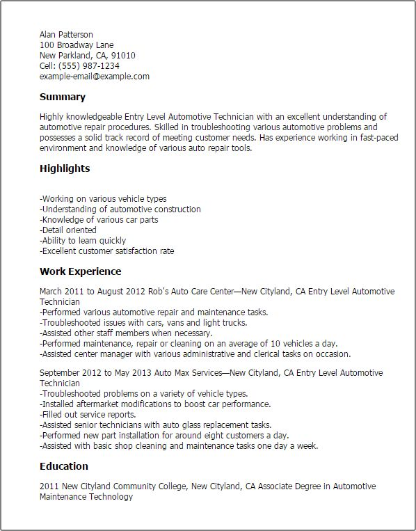 Library Technician Resume Sales