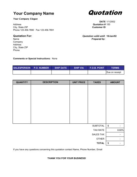 Quotation template 42 documents in pdf word excel college graduate - business quotation sample