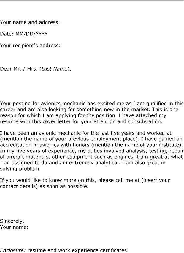 Avionics Technician Cover Letter Avionics Technician Cover Letter Sterile  Processing Technician Cover Letter