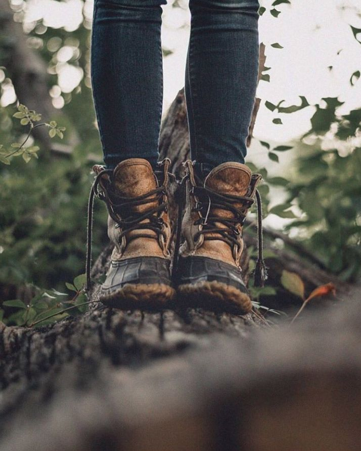 Your boots aren't broken in until they have some good stories to tell. (Photo: Instagram lyon_photography_) L.L.Bean Signature Waxed-Canvas Maine Hunting Shoe, Bean Boot.