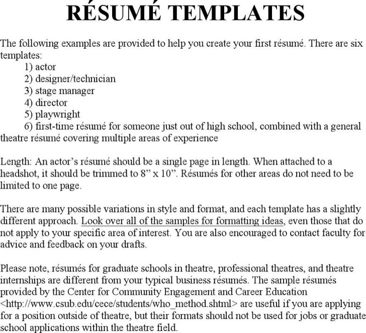 Sample Stage Management Resume Stage Manager Resume Drama - stage management resume