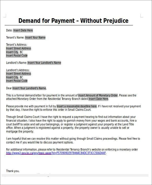 Formal Demand For Payment] Pre Lawsuit Demand Letter Georgia 3 Day