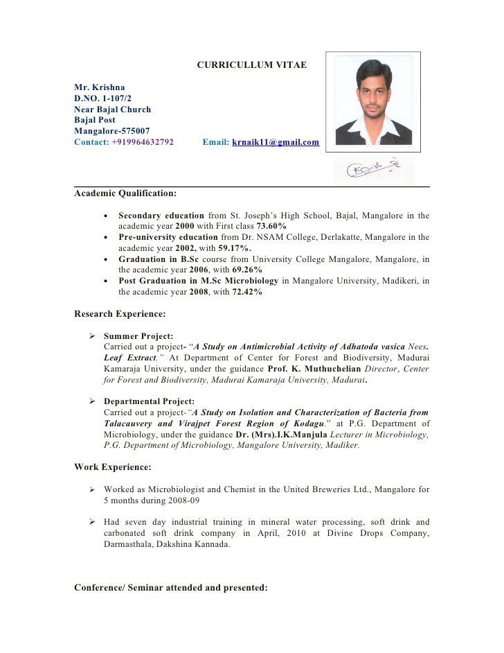 Microbiologist Resume Sample] Microbiologist Resume Template 5