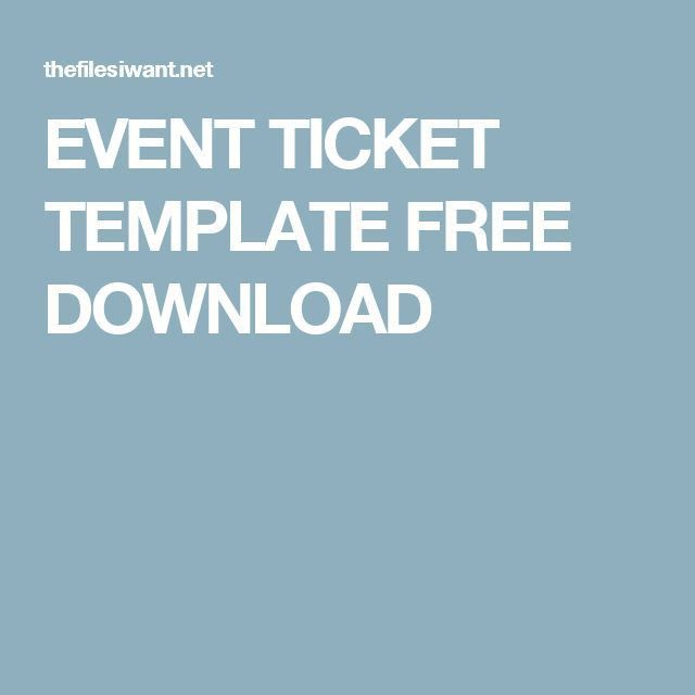 Print Your Own Tickets Template Free Concert Ticket Template - print your own tickets template free
