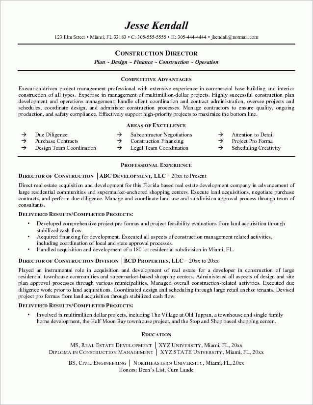 Construction Project Manager Resumes Project Manager Cv Template - construction project manager resume examples