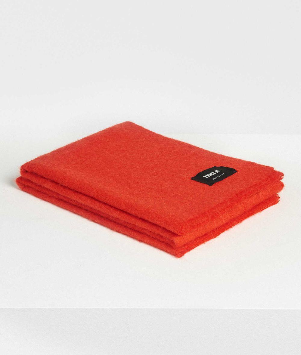 // John Pawson Mohair Blanket – Molten Lava | Tekla Fabrics