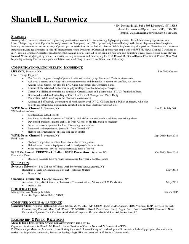 resume it specialist