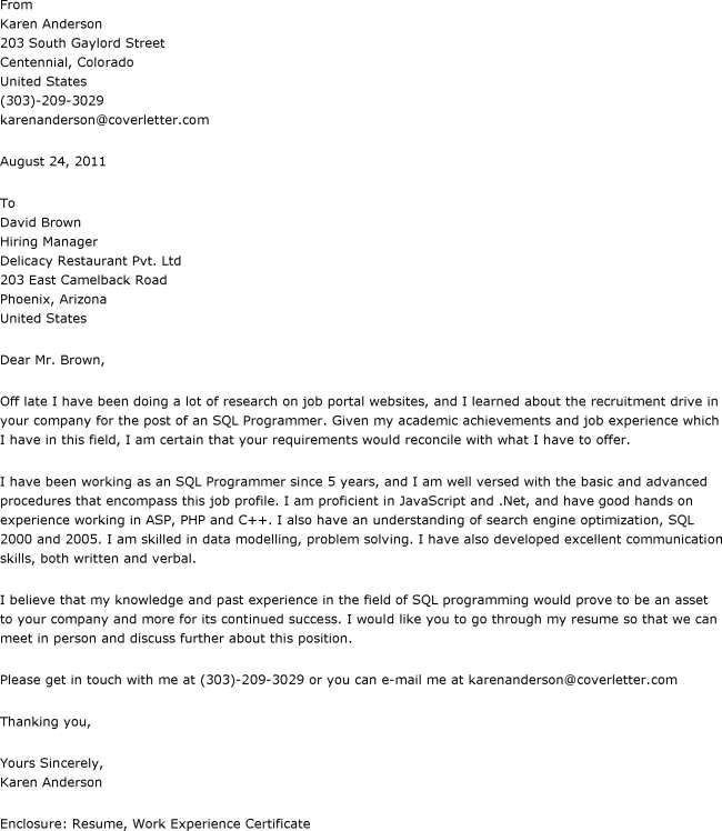 dietitian cover letter