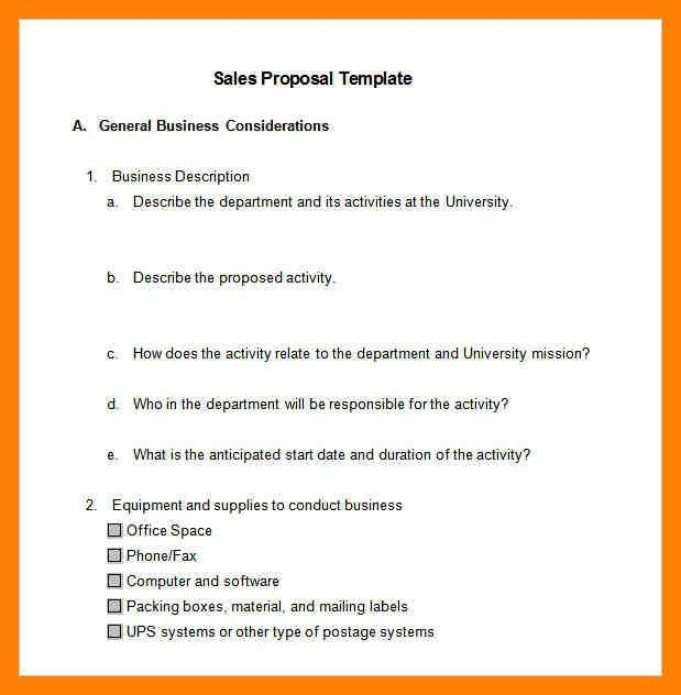 Sample business proposal proposal sample heres a typical - business project proposal template