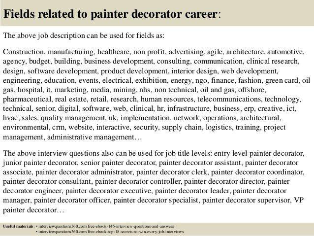 House Painter Job Description House Painter Job Description