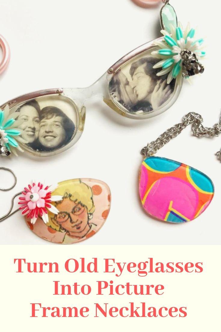 DIY Picture Frame Eyeglasses Necklaces