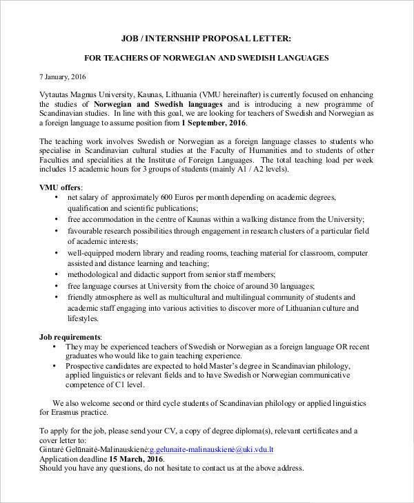 Sample Work Proposal Template proposal format sample - business - sample work proposal
