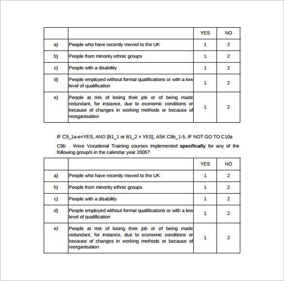 Survey Templates Free Patient Satisfaction Survey Template 9 Free - survey template in word