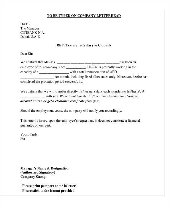 Salary transfer letter format sample cover letter designation letter format empowered official appointment and spiritdancerdesigns Gallery
