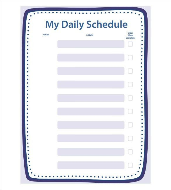 Daily Schedule Template Printable Top 25 Best Daily Schedule - daily schedule template printable