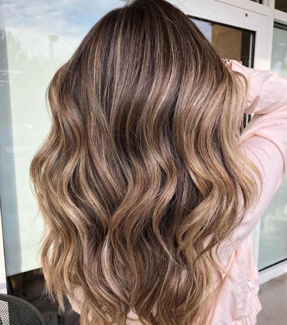 Subtle Balayage For Long Brown Hair
