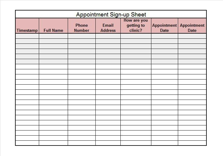 Microsoft Word Sign Template Ms Excel Signup Sheet Template - sample sign up sheet