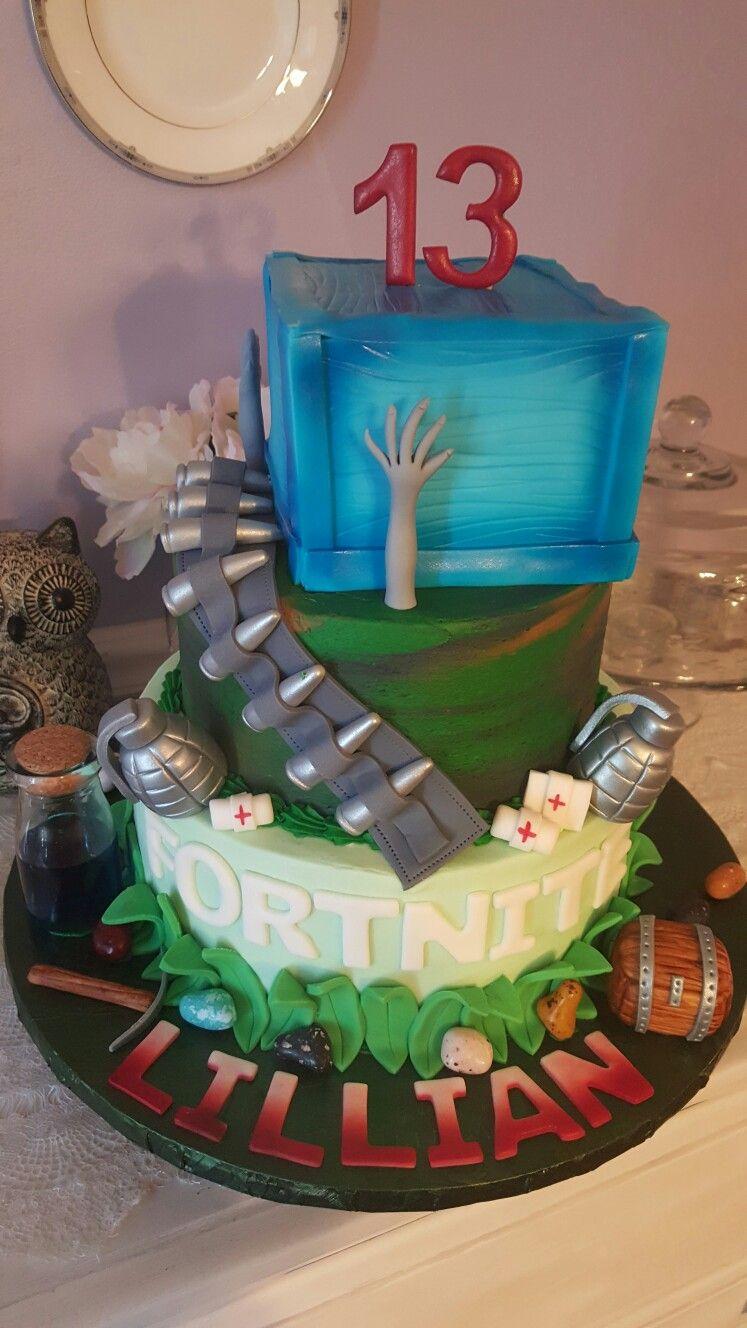 Shannons Custom Cakes Port Huron Michigan Fortnite Cake