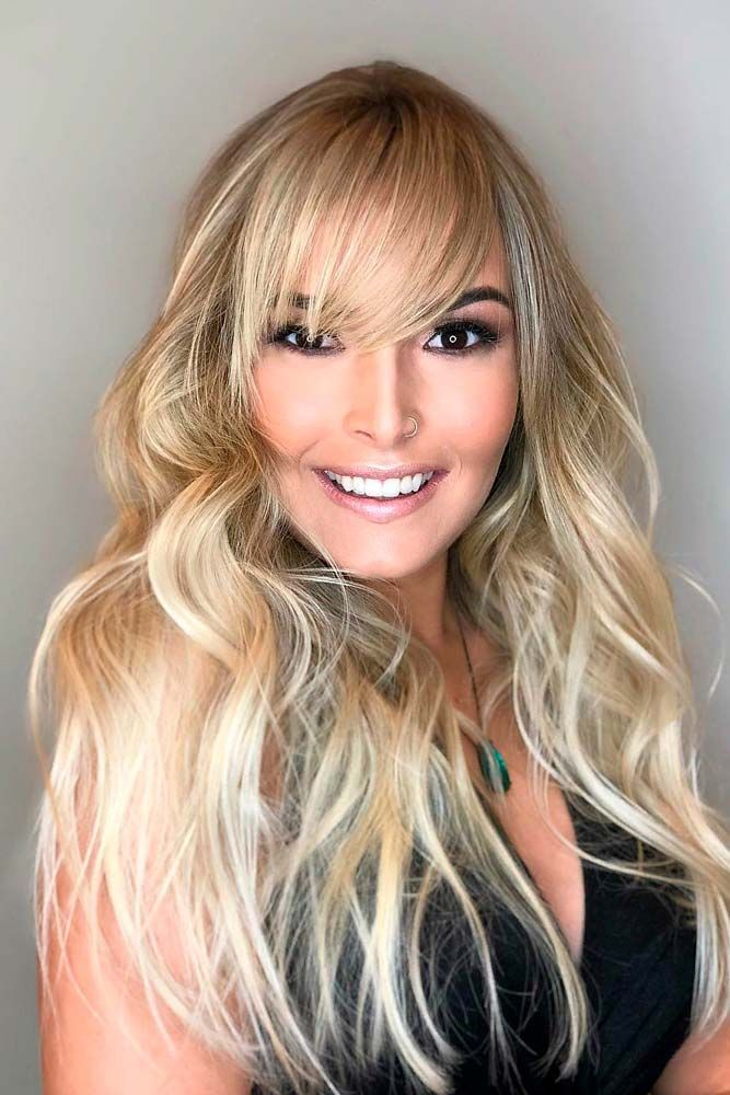 Long, Thin And Side-Swept  #blondehairstyles #longhair ★ Do you know how to make your long hair with bangs get the most out of your face shape? Here, we're sharing essential tips on choosing bangs. Alongside the basics, you will see the latest fringe ideas here! #glaminati #lifestyle #longhairwithbangs