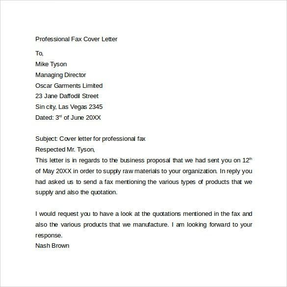 Example Fax Cover Letter 9 Fax Cover Letter Templates Free Sample - sample fax cover sheet