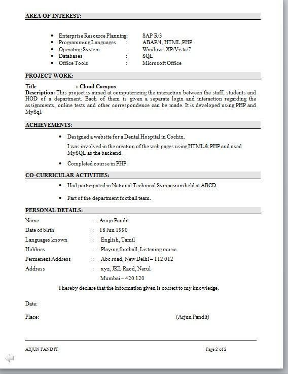 sap abap resume sample resume for welding position building