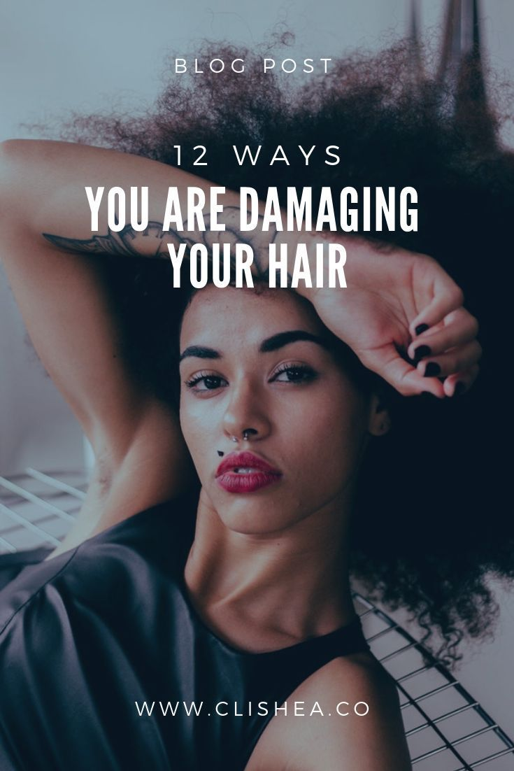 Looking to learn the causes of damaged hair? Read more. Comes with tips and diy hair recipes #clishea #haircare #dryhair #diyhair #hair #beauty #beautytips #hairtips #diykitchen #hairmoisture #curlyhair #kinkyhair #hairdamage #type3hair #type4hair #type2hair #type1hair #melanin #beautyblog #naturalhairrules #hairblog #naturalhaircare