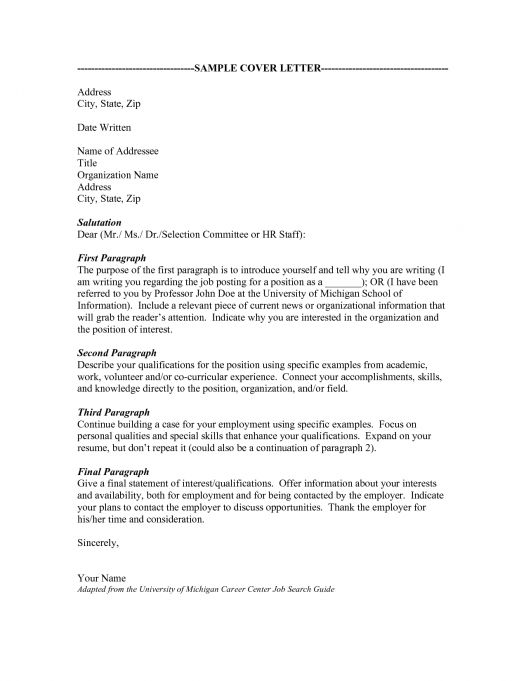 salutation for a cover letters