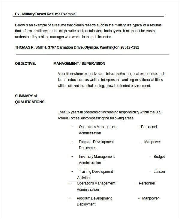 ex military resume examples examples of resumes