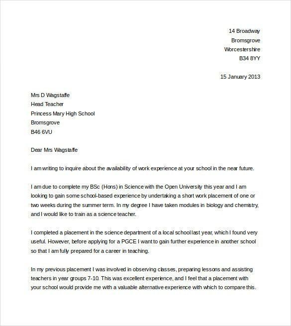Teaching Cover Letter Templates] Teacher Cover Letter Example