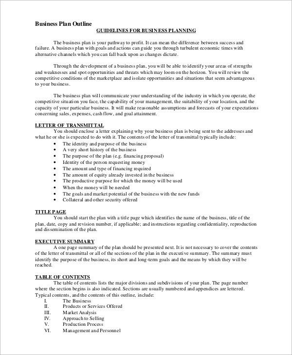 Sales Plan Outline Sales Plan Outline Sample This Image Shows An - one page executive summary template