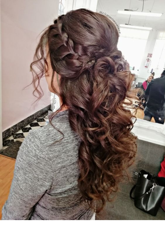 Nice hair for a wedding