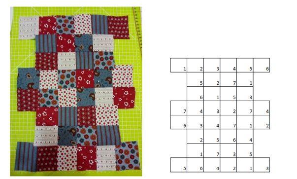 Neceser con la técnica del patchwork