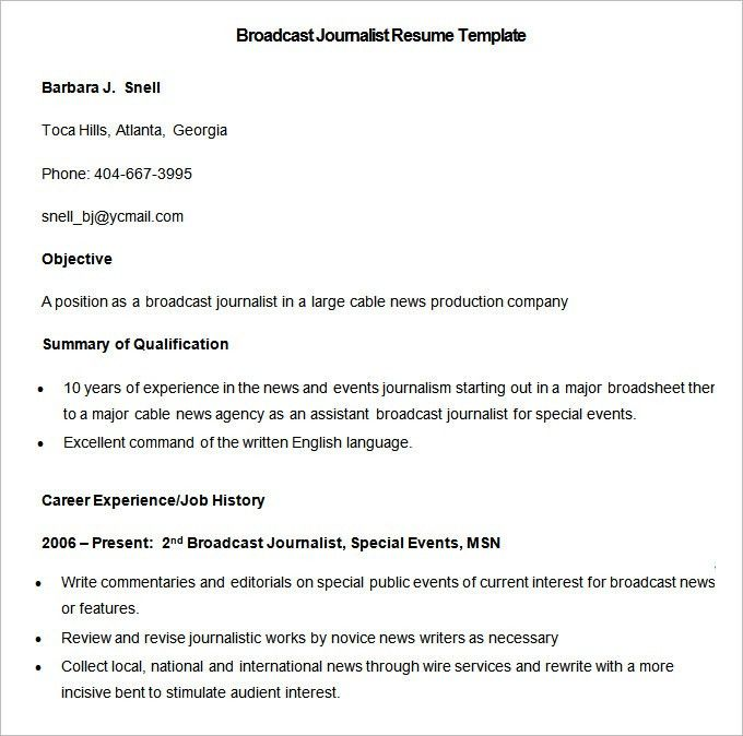 News reporter resume fieldstation news reporter resume pronofoot35fo Images