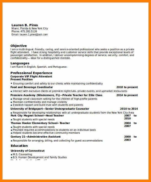Flight Attendant Resume Sample Flight Attendant Resume Sample - sample flight attendant resume