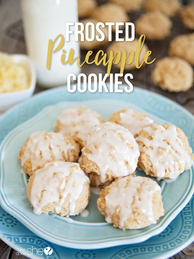 Soft Frosted Pineapple Cookies