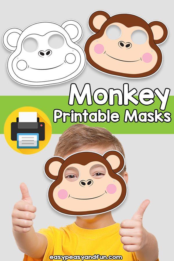 Printable Monkey Mask Template – Easy Peasy and Fun Membership