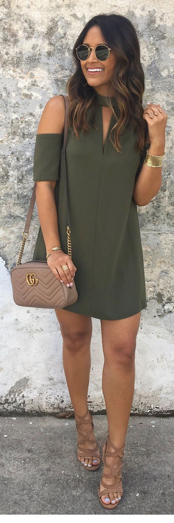 I like this olive dress
