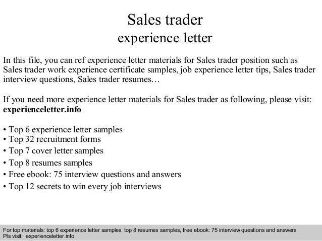 Assistant Trader Cover Letter Junior Trader Cover Letter Junior
