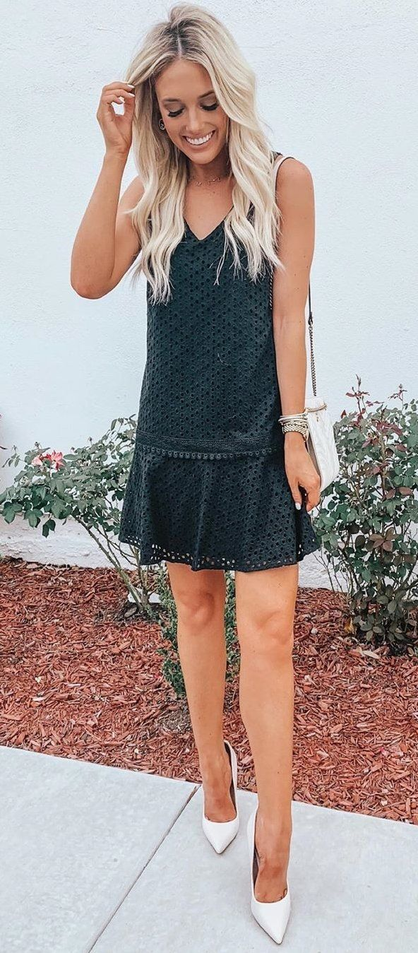 gray sleeveless dress #summer #outfits