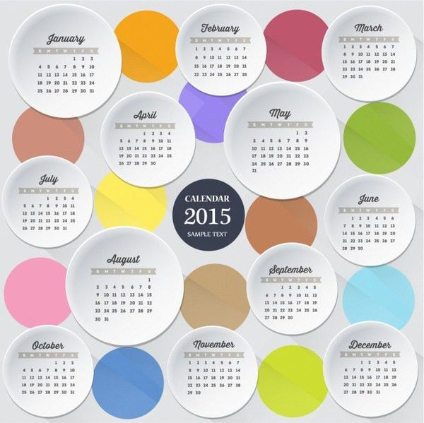 100+ Illustrator Calendar Template 2018 Calendar Template Modern - sample 2015 calendar