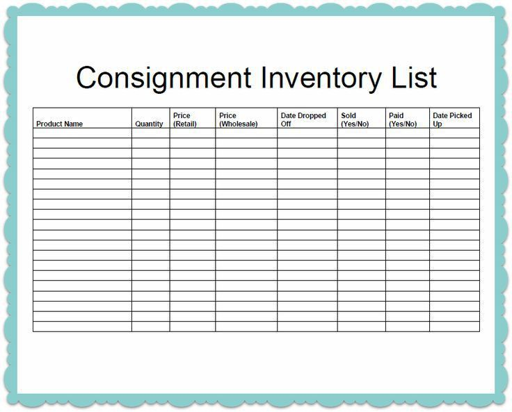 it inventory list