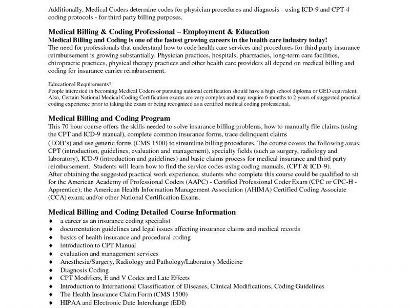 certified medical coder resume