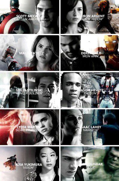Teen Wolf's characters as marvel's superheroes