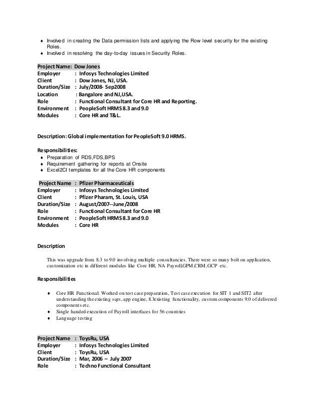 techno functional consultant sample resume resume sudhanshu - People Soft Consultant Resume