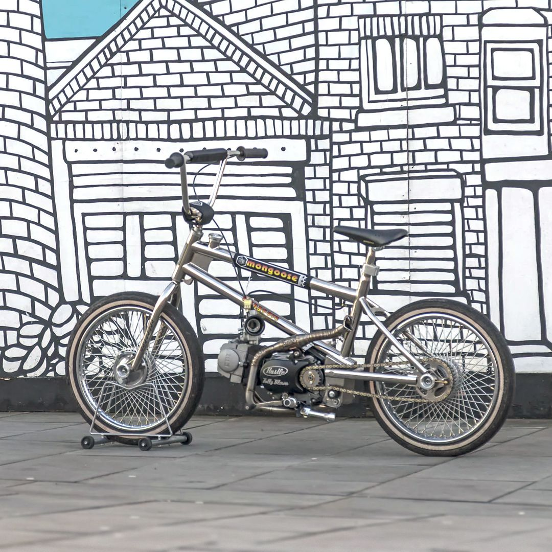 Headlining our latest Bikes Of The Week: A BMX with a 125cc motorcycle engine in a replica Mongoose frame. Whatever next?!